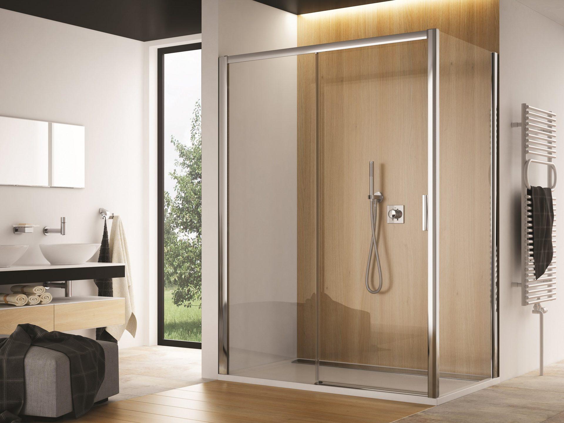 Dusche Schiebetür 2-teilig Mit Seitenwand 200 Cm Hoch