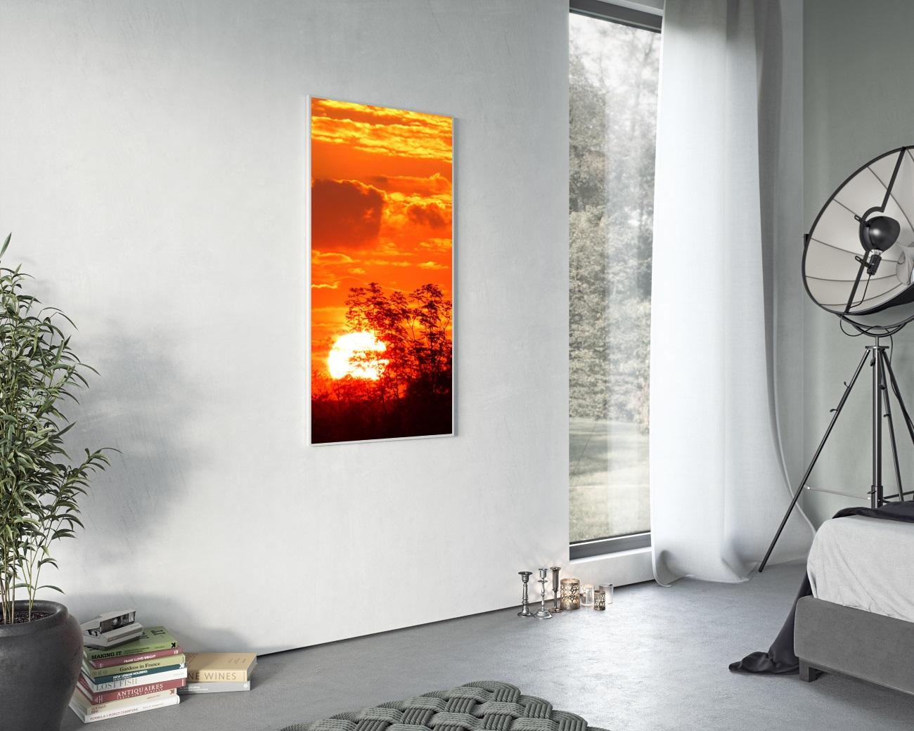 heizk rper infrarot mit bild 120 x 30 cm 400 watt bad. Black Bedroom Furniture Sets. Home Design Ideas