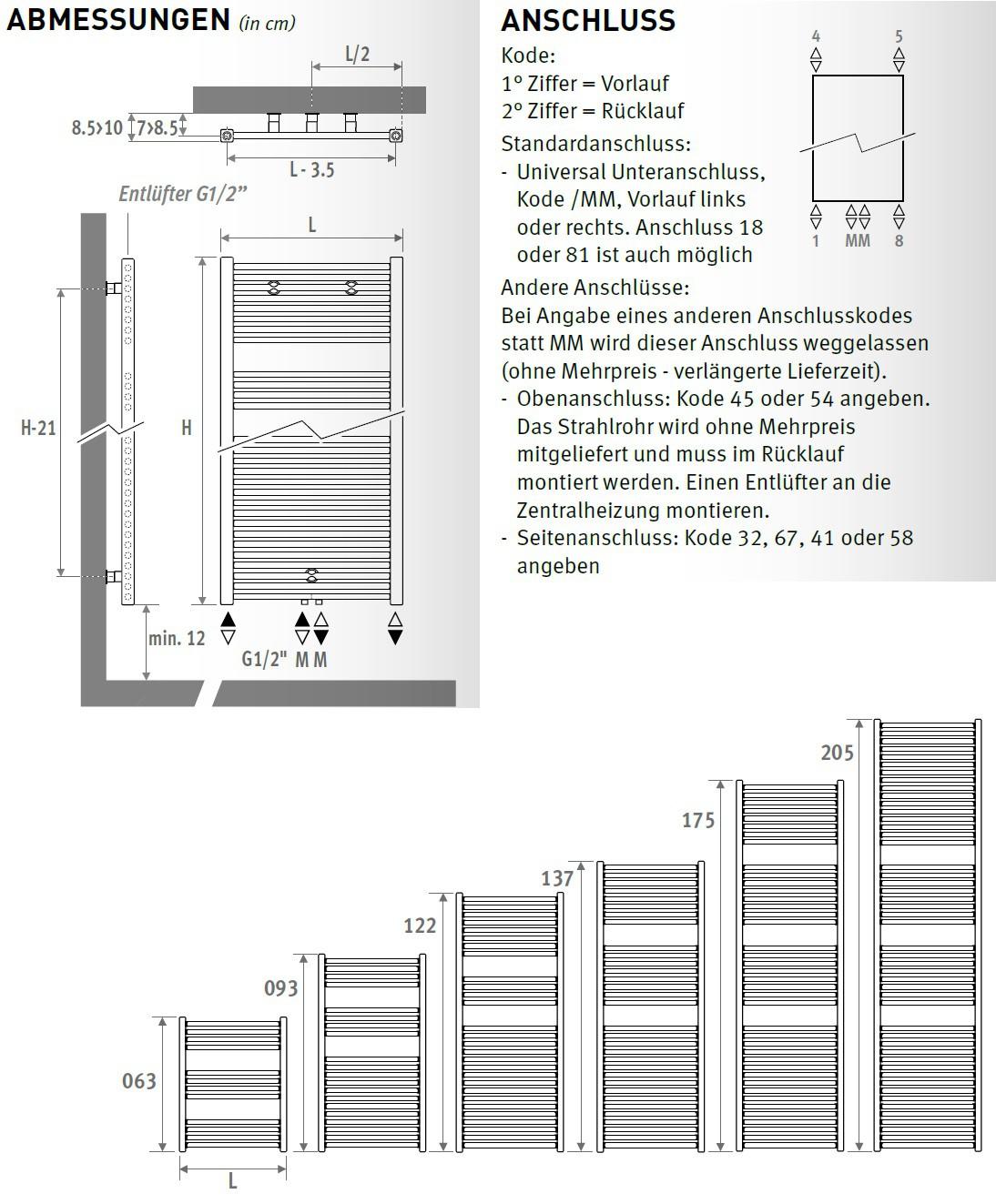 leiterheizk rper 122 x 50 cm 665 w heizk rper badheizk rper. Black Bedroom Furniture Sets. Home Design Ideas