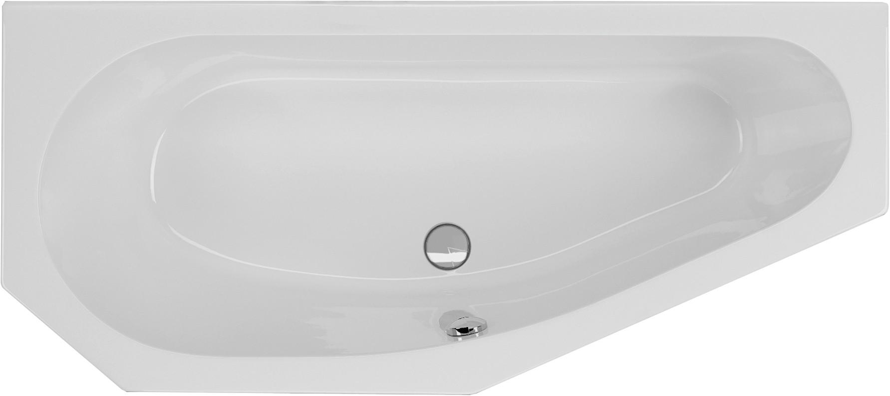 Badewanne asymmetrisch 170 x 75 x 43 cm