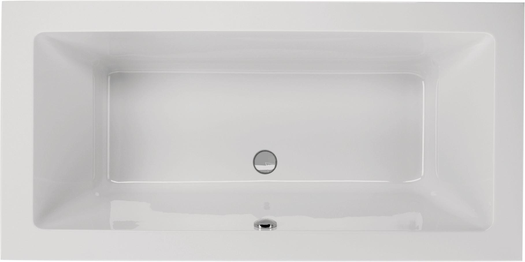 tiefe badewanne 180 x 80 cm rechteckwanne mit tr ger ablauf mittig. Black Bedroom Furniture Sets. Home Design Ideas