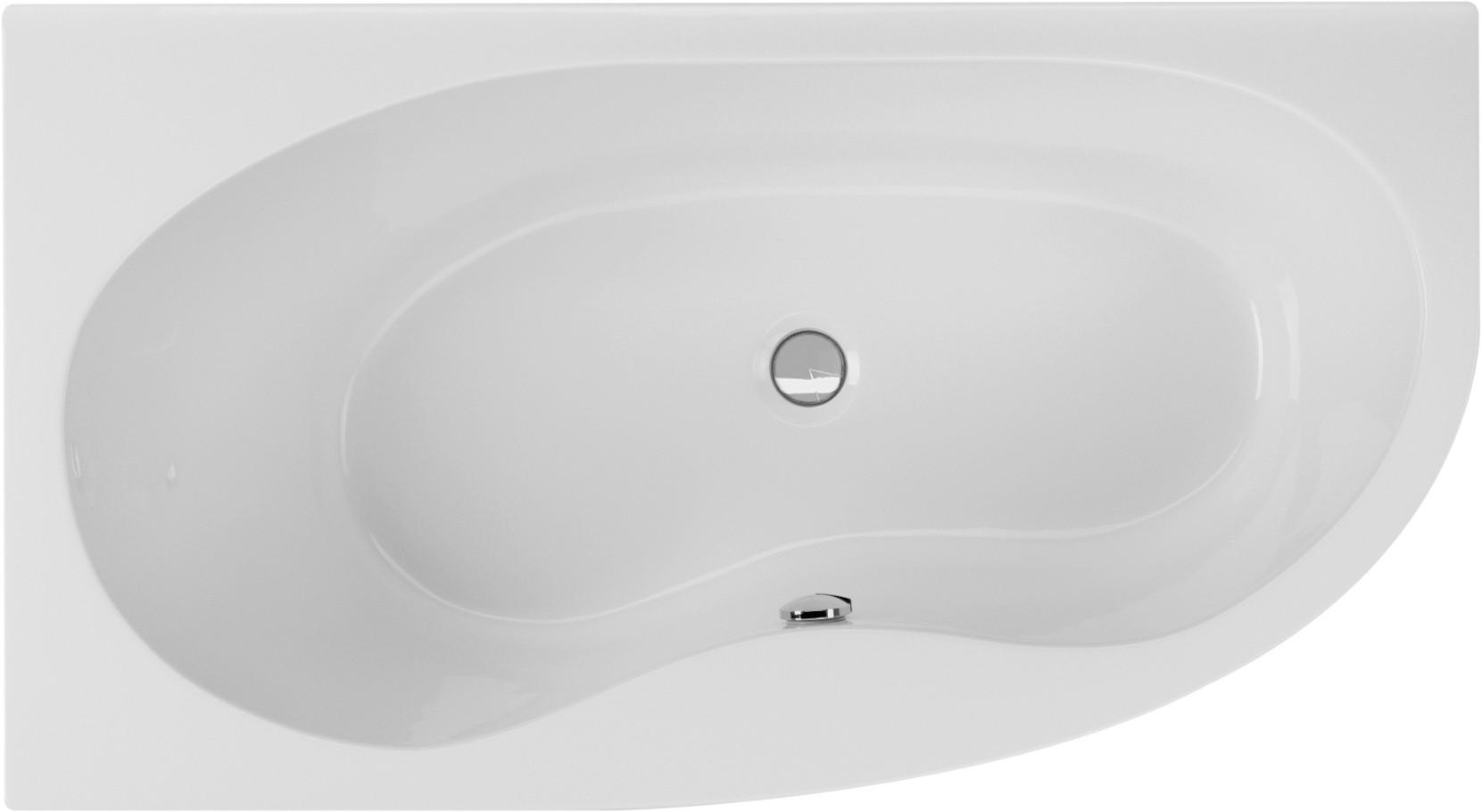 Raumsparwanne 165 x 90 cm asymmetrische eckbadewanne for Asymmetrische badewanne 170